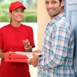 Pizza delivery — Stock Photo
