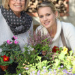 Mother and daughter gardening — Stock Photo #7549682