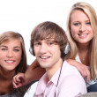 Three teenagers together — Stock Photo #7549863