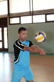 Volley-ball player in action — Stock Photo
