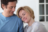 Mature loved up couple — Stock Photo