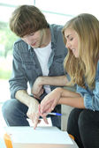 Teenagers revising — Stock Photo