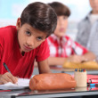 Kids in classroom — Stock Photo