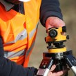 Site surveyor - Stock Photo