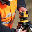 Site surveyor — Stock Photo