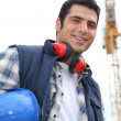 Stock Photo: Portrait of happy foreman