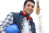 Portrait of happy foreman — Stock Photo