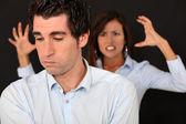 Paar mit argument — Stockfoto
