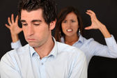 Par med ett argument — Stockfoto