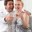 Stock Photo: Couple with drinks