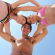 3 friends at the beach — Stock Photo #7607507