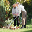 Mother and daughter gardening — Stock Photo #7607991