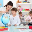 Little girl at nursery school — Stock Photo #7608044