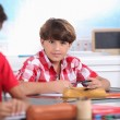 Kid at school — Stock Photo