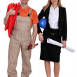 Plumber and contractor — Stock Photo #7608480