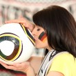 Female German soccer supporter - Foto Stock