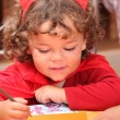 Little child drawing — Stock Photo