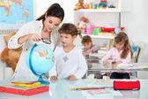 Little girl at nursery school — Stock Photo
