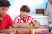 Kid at school — Stock Photo