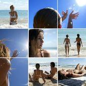 Mladé ženy na dovolené na moři — Stock fotografie