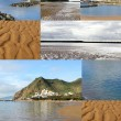 A collage of coastal landscapes — Stock Photo