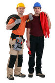 Electrician and plumber — Stock Photo