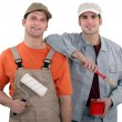 Stock Photo: Team of painters