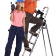 Stock Photo: Couple of handyman.
