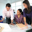 Team of architects in office — Stock Photo