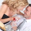 Couple at table — Stock Photo #7623822