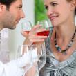 Stock Photo: Couple drinking wine