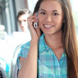 Young person on mobile phone — Stock Photo