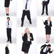 Funny businesspeople collage — Stock Photo