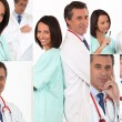 Stock Photo: Collage of team of doctors