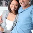 Smiling couple at home — Stock Photo #7624570