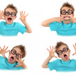 Child pulling faces — Stock Photo #7624928