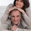 Stock Photo: Mature couple smiling