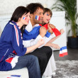 Royalty-Free Stock Photo: French football fans watching a televised match