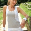 Woman in fitness clothes — Stock Photo #7626527