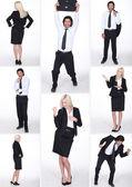 Businesspeople divertenti collage — Foto Stock