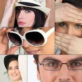 Many facial expressions — Stock Photo