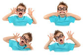Child pulling faces — Stock Photo