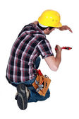 A plumber at work. — Stock Photo