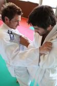 Judo grasp. — Stock Photo