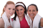 Friends at the gym together — Stock Photo