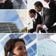 Stock Photo: Business mosaic