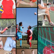 Mosaic of various sports — Stock Photo