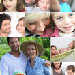 children and parents — Stock Photo