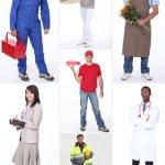 collage des professions — Photo