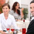Couple dining — Stock Photo